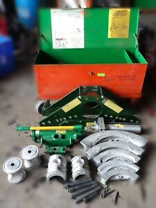 Greenlee Model 883 4 Hydraulic Pipe Bender With Gang Box 2 3 8 4 15 16