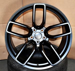 20 Flow Forged Wheels For Dodge Hellcat Charger Challenger Srt Satin Black Set