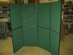 Nomadic Trade Show Green Back Wall Display Assembled Approx 110 X 80