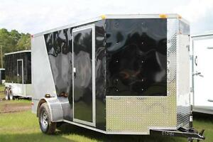 New 2019 6x12 6 X 12 V nosed Enclosed Cargo Motorcycle Trailer Ramp