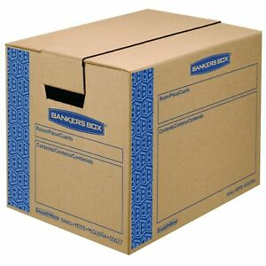 Bankers Box Smoothmove Prime Moving Boxes Tape free Fastfold Easy Assem New