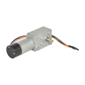 Dc 12v 3 200rpm Worm Gear Reducer Motor With Dual Channel Hall Effect Encoder