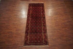 5x13 Antique Turkoman Tribal Gallery Runner Hand Knotted Wool Abrash Rug