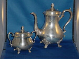 International Silver Company 5 Piece Silverplated Coffee And Tea Set With Tray