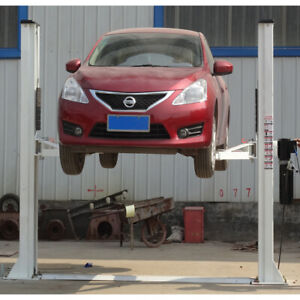 Two Post Car Lift With Dual Anti skidding Safety Device Avoids Overload Running