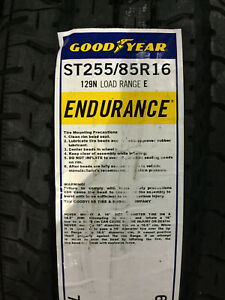 1 New St 255 85 16 Lre 10 Ply Goodyear Endurance Trailer Tire