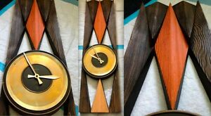 Mid Century Modern Eames Mad Men Era George Nelson Style Clock Googie Atomic