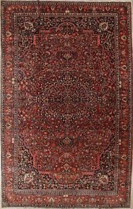 Pre 1900 Vegetable Dye Big Antique Persian Rug Bakhtiari Geometric Large 11x18