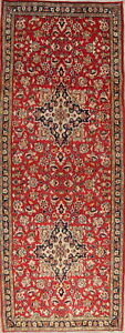 Sale One Of A Kind Traditional Kashmar Persian Hand Knotted 4x10 Wool Runner Rug