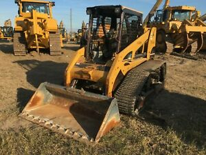 Cat 267b Rubber Track Skid Steer Turbo Diesel Aux Hydraulics Hd Runs Great