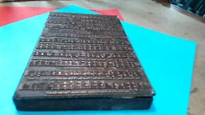 Vintage Lead Musical Page Printing Press Block On Wood