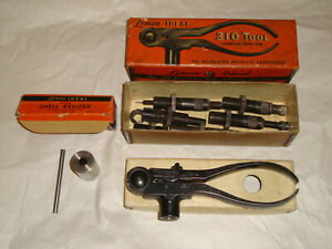 VINTAGE LYMAN IDEAL NO. 310 RELOADING TOOL W DIES 3855 & 218 BEE SHELL RESIZER