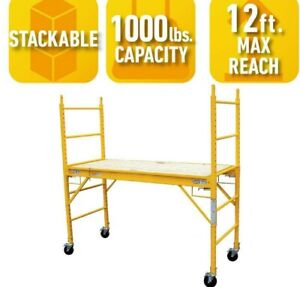 Pro series Multi Use Drywall Baker Scaffolding With 1000 Lb Load Capacity