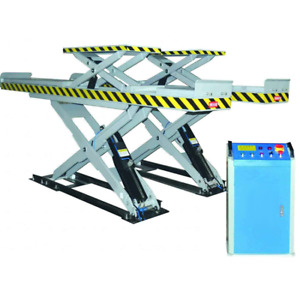 Car Scissor Lift With Second Lifting Used For Alignment Sp M3500