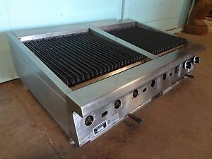 u s Range H d Commercial 48 Nat gas Counter Top Radiant Grill char broiler