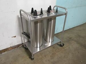 amf 53 00 H d Commercial S s heated 5 Dual Plate bowl Dispenser cart holder