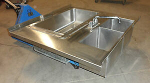 Hduty Glas Tender S s Under Counter Bar Sink Ice Bin With Cold Plate 2 In out