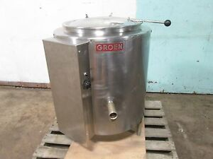groen Ee20 H d Commercial 3ph Electric 20gal Steam Jacketted Kettle