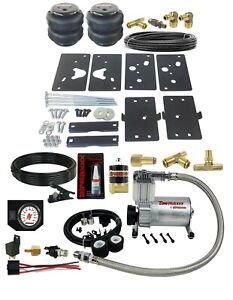 Air Tow Assist Load Level Kit White Gauge On Board 2014 18 Dodge Ram 2500 Truck
