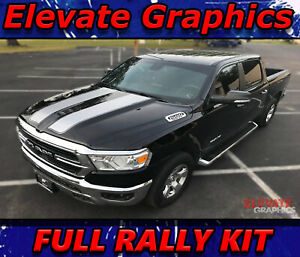 Dodge Ram 1500 Rally Stripes Graphics Hood Tailgate 3m Decal Stickers 2019 2020