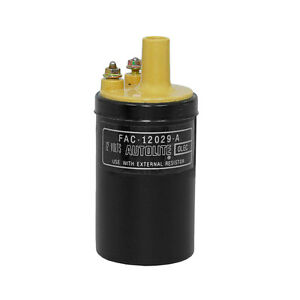 Mustang Ignition Coil Yellow Top With Autolite Decal 12v 1965 1973