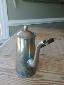 Usn Silver Soldered Reed Barton Coffee Chocolate Pot 3610