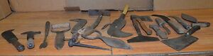 Huge Lot Antique Whaling Tools Axe Knife Scraper Bill Hooks Early Collectible