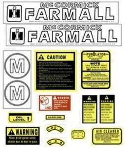 Fa605sa Hood Safety Decal Set Kit For Farmall Case Ih International M Tractor