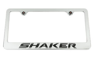 Dodge Challenger R T Black Shaker Chrome License Plate Frame Usa Made