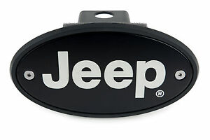 Jeep Receiver Hitch Cover Plug Black Silver Engraving Made In Usa