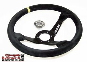 Sparco Steering Wheel R325 350mm 95mm Dish suede Yellow Stripe
