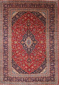 9x14 Vintage Traditional Wool Persian Hand Knotted Floral Oriental Large Rugs