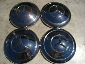 Mercedes 220 230 Sl Se 111 113 Hub Cap Wheel Cover Caps Two Piece Type
