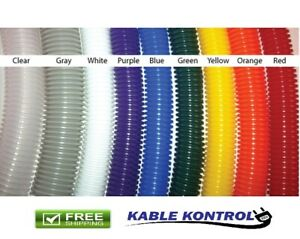Kable Kontrol Colored Polyethylene Split Wire Loom Tubing Size