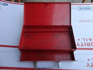 Mac Tools Small Toolbox Tight Corners Solid Snap Shut 1 Drawer Top Compartment