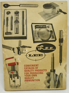 Vintage Hunting Lee Precision Products Catalog Reloading Equipment Reference