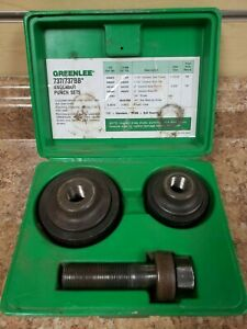Greenlee 737bb Ball Bearing Knockout Punch Die Set Kit W Box Preowned Bin Fs
