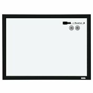 Quartet Dry Erase Board Whiteboard White Board Magnetic 17 X 23 Black Fr