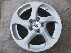 Porsche 996 Turbo Oem Genuine 5 Twist Hallow Spoke 18 Wheel Center Cap Set