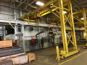 5 Ton Pittsburgh Single Leg Single Girder Gantry Crane Yoder 67224