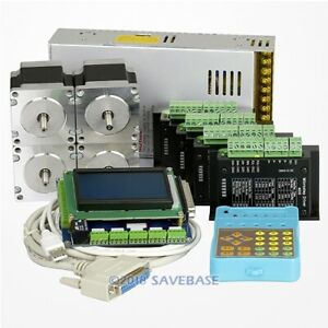 4 Axis Cnc Control Kit Nema23 Stepper Motor 175 Oz in M335 Motor Driver 3 5a
