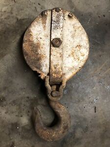 Anvil 20 Ton Snatch Block With Hook 1 Cable Tackle Old Wrecker Rat Rod Coe Tool