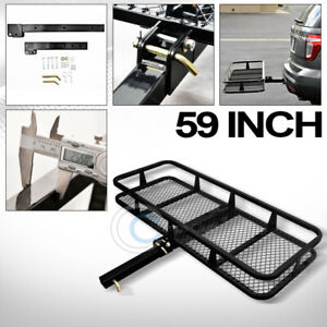 59 Blk Mesh Folding Trailer Hitch Cargo Carrier Rack Basket For 2 Receiver C21