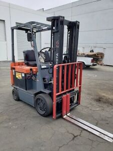 2014 Toyota Sit Down Electric Forklifts 5 Available All W Low Hours 188 Mast