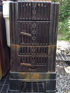 Vintage Antique Sears Wood Burning Heater Double Chamber Model 102 8751