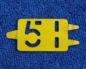Vintage 51 1951 License Plate Tag Accessory Topper Insert Chevy Ford Mopar Buick