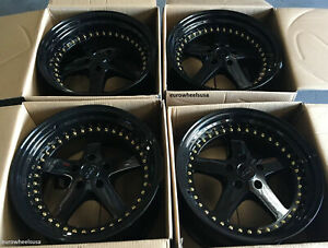 Esr Sr04 Black Wheels18x9 5 5x100 22 Fit Frs Tc Xd Brz Impreza 18 Rims Set 4