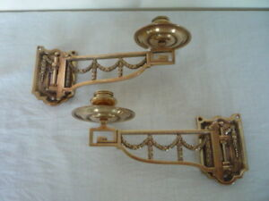 Decorative Brass Candle Candlestick Holders Wall Sconce Piano Reclaim Rd 530245