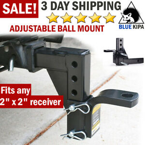 Dual Ball Mount Heavy Duty Drop Adjustable Hitch Receiver Tow Truck Rv Trailer 2