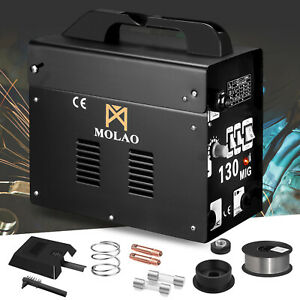 Mig 130 Welder Gas Less Flux Core Automatic Wire Welding Machine Free Mask